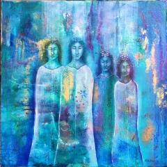 The gathering, 90x70 cm
