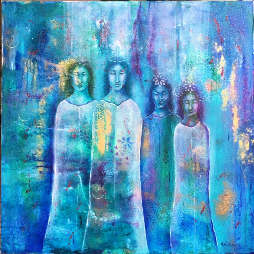 The gathering, 90x70 cm